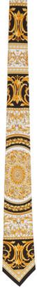 Versace Black and Yellow Silk Le Pop Classique Tie