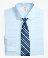 Brooks Brothers Madison Classic-Fit Dress Shirt, Non-Iron Houndstooth Overcheck