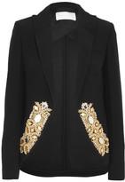 Antonio Berardi Embellished Cady Blazer - Black