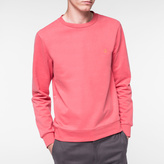 Paul Smith Men's Pink Peace-Motif Loopback-Cotton Sweatshirt