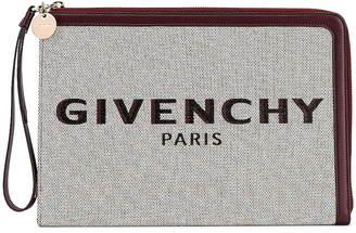 Givenchy Large Bond Pouch in Aubergine | FWRD