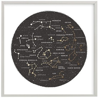 Pottery Barn Kids Minted Constellation Map Wall Art by Jessie Sturey