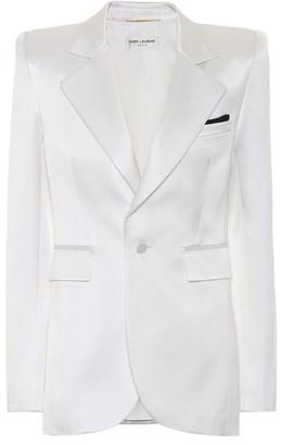 Saint Laurent Silk-blend satin blazer