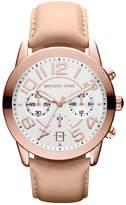 Michael Kors Women's MK2283 Beige Leather Quartz Watch with Silver Dial