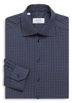 Eton Dot Print Contemporary-Fit Cotton Dress Shirt