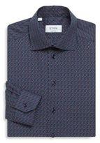 Eton Dot Print Regular-Fit Cotton Dress Shirt