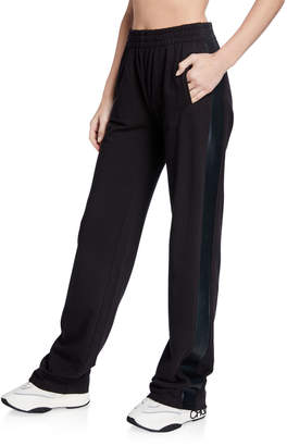 Norma Kamali Side Striped Boyfriend Sweatpants