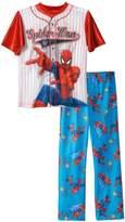 Marvel Boys Spiderman Baseball Jersey 2-piece Pajama Sleepwear Set , Kids Size 10/12