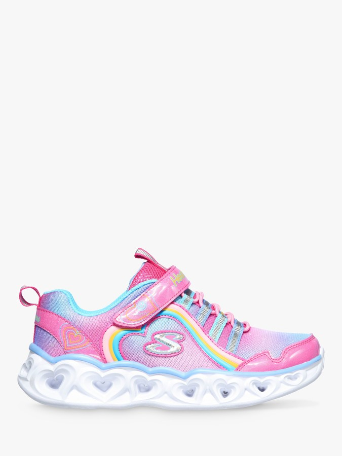 Skechers Children's S Lights Hearts Lights Rainbow Lux Light-Up Trainers