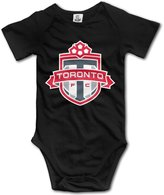 Enlove Toronto FC BABY Cute Short Sleeves Variety Baby Onesies Bodysuit For Little Baby Size 6 M