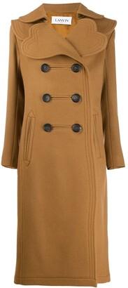 Lanvin heart-lapel double-breasted coat