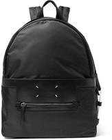 Maison Margiela Leather-trimmed Nylon Backpack - Black