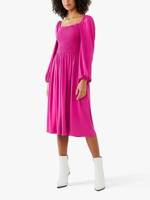 Ghost Penny Square Neck Dress, Purple
