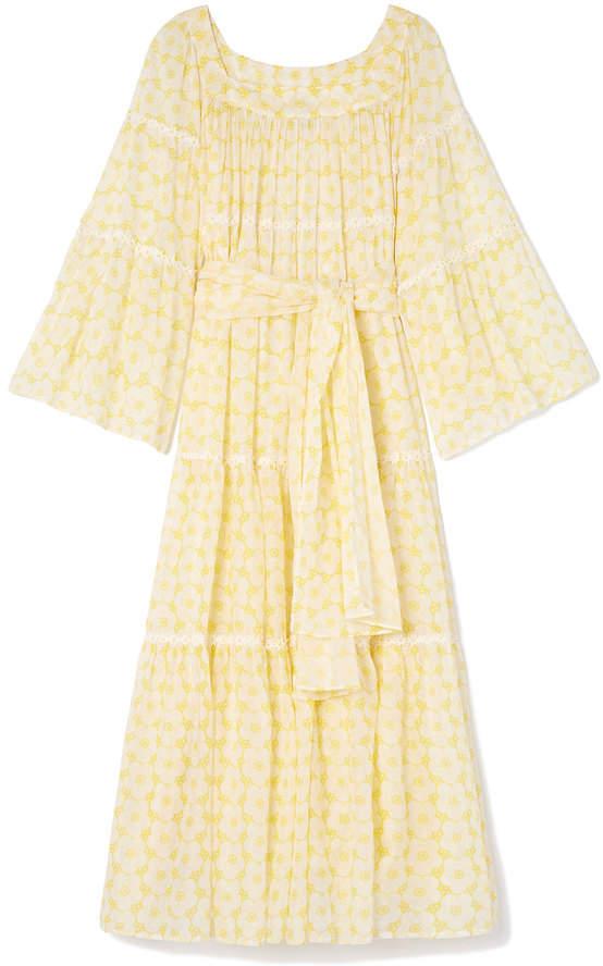 Lisa Marie Fernandez Sheer Long Peasant Dress