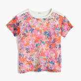 J.Crew Girls' combo T-shirt in brushstroke marigold