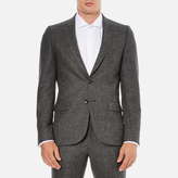 Ps By Paul Smith Fully Lined Single Breasted Jacket Grey