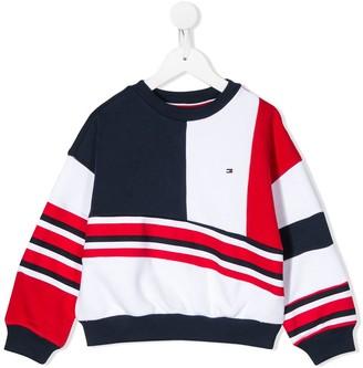 Tommy Hilfiger Junior geometric pattern sweatshirt
