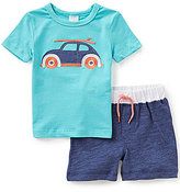 Starting Out Baby Boys 12-24 Months Vacation Car-Appliqued Short-Sleeve Tee & Shorts Set