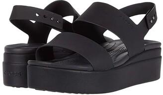 Crocs Brooklyn Low Wedge (Black/Mushroom) Women's Wedge Shoes
