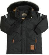 Mini Rodini Waterproof Nylon Ski Jacket W/ Faux Fur