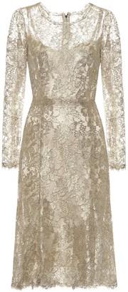 Dolce & Gabbana Floral-lace lame dress