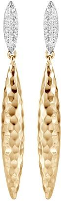 John Hardy 'Classic Chain' diamond 18k gold drop earrings
