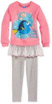 Nannette Disney's Dory 2-Pc. Layered-Look Sweatshirt & Leggings Set, Toddler & Little Girls (2T-6X)
