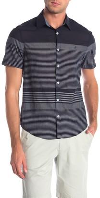 Original Penguin Stripe On Lawn Slim Fit Shirt