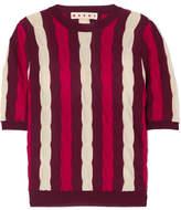 Marni Striped Wool Top - Red