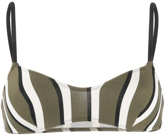 Solid & Striped Block Stripe Bikini Top