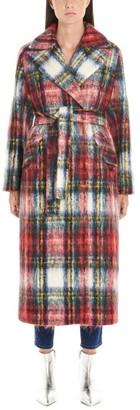 Giada Benincasa Tartan Wrap Coat