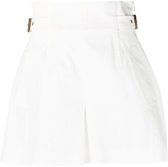 Alberta Ferretti High-Rise Gathered Shorts