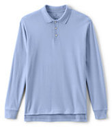 Lands' End Men's Tall Long Sleeve Interlock Polo-White
