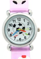 TimerMall Football Parttern Purple Band Round Dial Water Resistant Cute Children's Watches