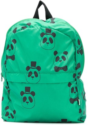 Mini Rodini Panda-Print Backpack