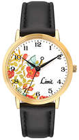 Limit Ladies' Floral Dial Black Strap Watch