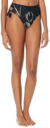 O'Neill Monsoon Side Tie High-Waisted Bikini Bottoms (Black) Women's Swimwear