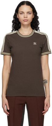 Wales Bonner Brown adidas Originals Edition Stripes T-Shirt