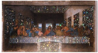 Browns X Sara Shakeel The Last Supper crystal A2 print