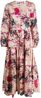 An An Londree Floral Tiered-Skirt Dress