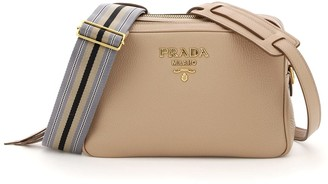Prada Calfskin Double Shoulder Bag