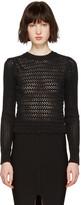 3.1 Phillip Lim Black Crochet Pullover