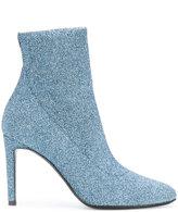Giuseppe Zanotti Design Celeste glitter sock boots - women - Leather - 36