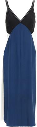 Rag & Bone Gladys Layered Color-block Silk Crepe De Chine Midi Slip Dress