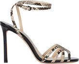 Jimmy Choo Mimi 100 Snake-Embossed Sandals
