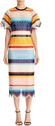 Carolina Herrera Short Sleeve Sheath Dress
