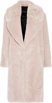 Cédric Charlier Oversized Faux Fur Coat - Beige
