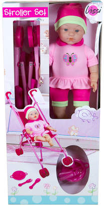 Lissi Doll Umbrella Stroller Set With 16 Inch Baby Doll