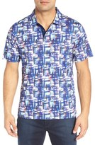 Bugatchi Men's Print Cotton Polo Shirt