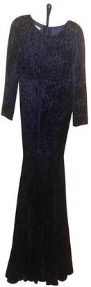 Oscar de la Renta Blue Velvet Dresses